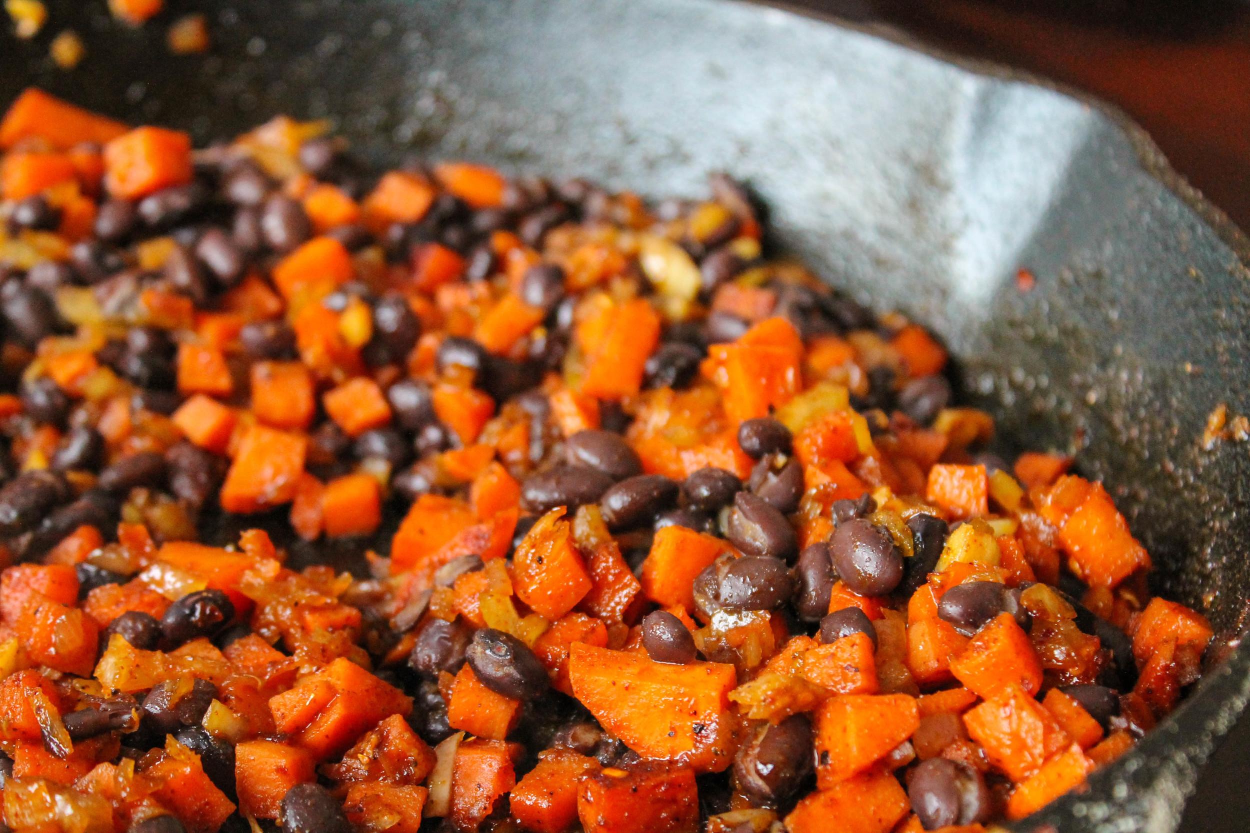 chili sweet potato hash