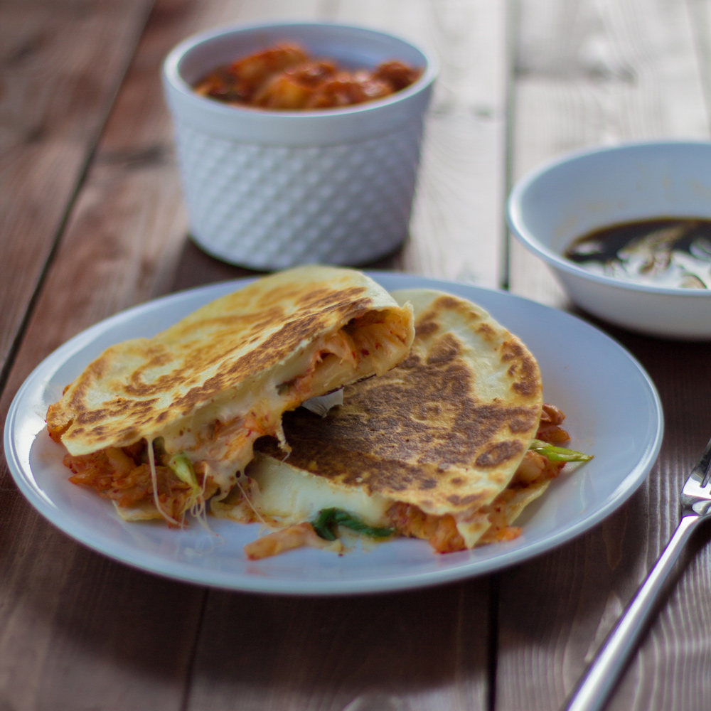 kimchi quesadilla recipe
