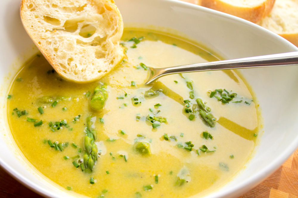 Parmesan Asparagus Lemon Soup - Bake, Braise & Broil