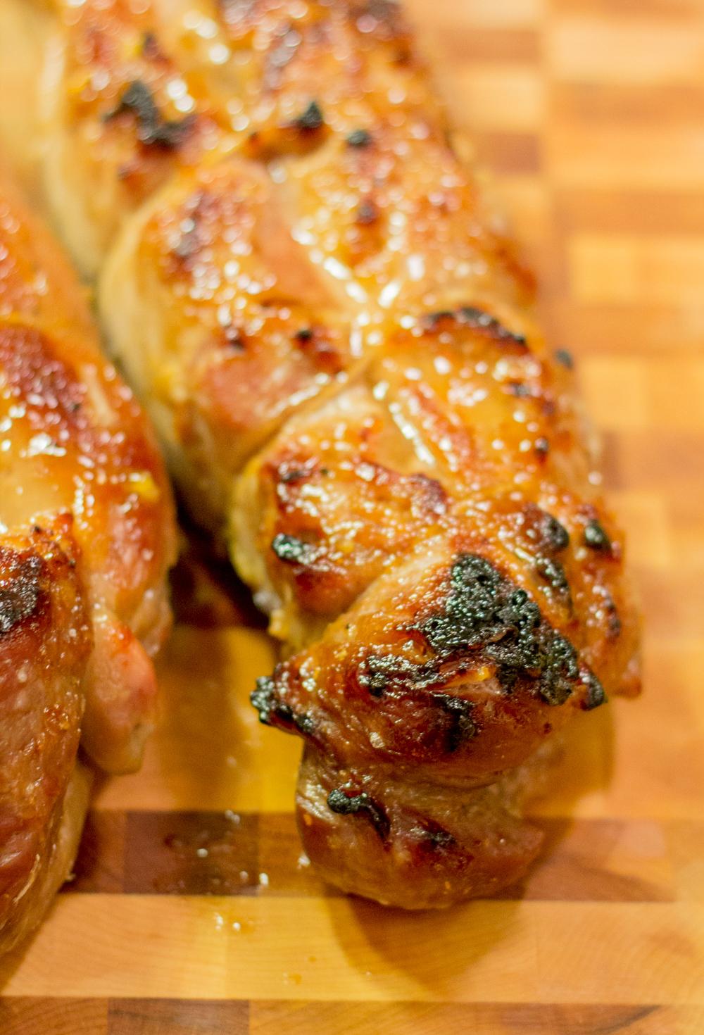 Maple, Garlic, Ginger Glazed Pork Tenderloin