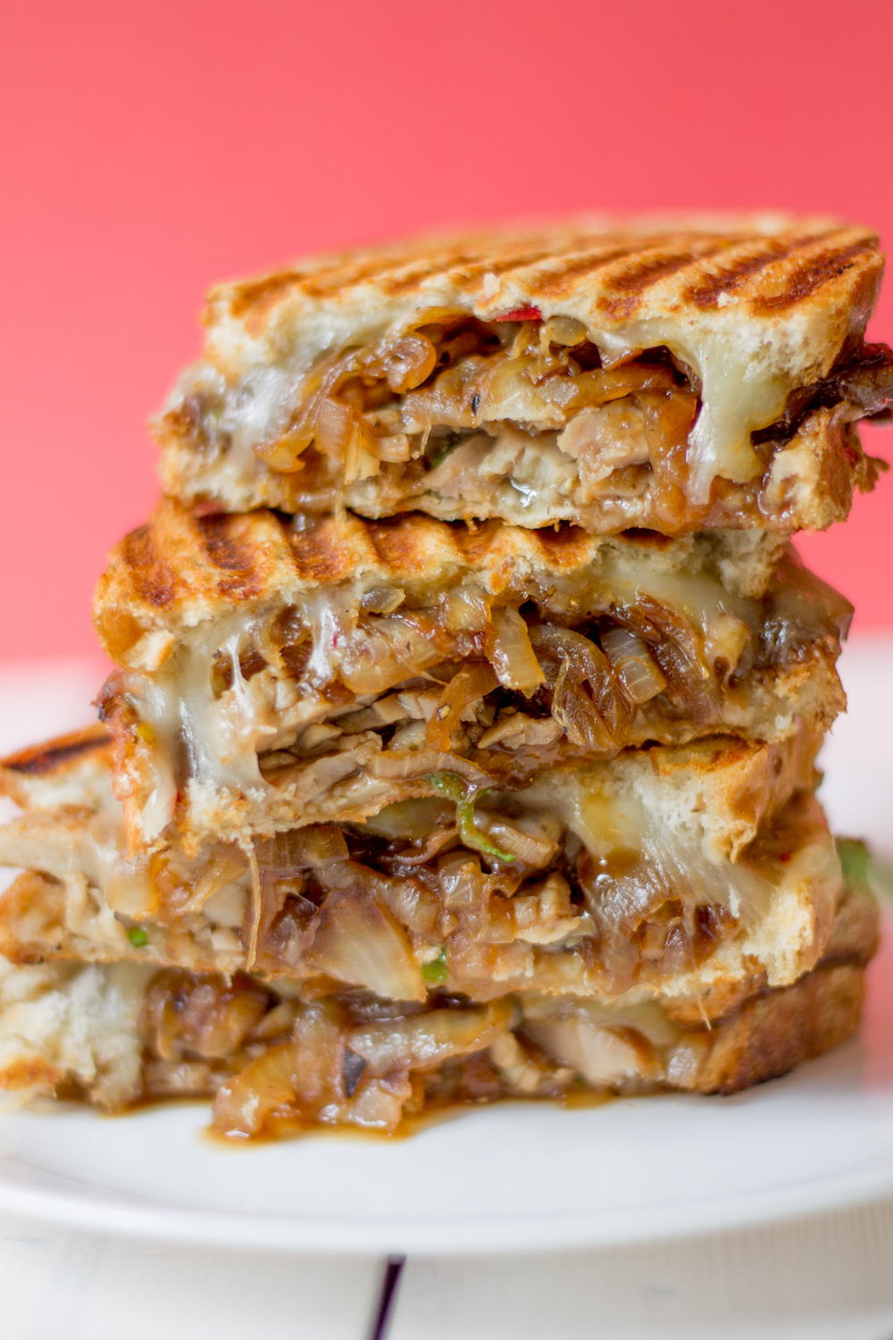 Maple Pork Panini with Balsamic Caramelized Onions