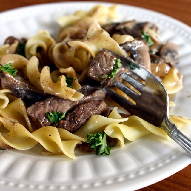 New Blog Post! This week, guest blogger Mara Erickson shares one of her favourite recipes: #Beef #Stroganoff with #Homemade Sour #Cream! Check it out at www.bakebraiseandbroil.com
