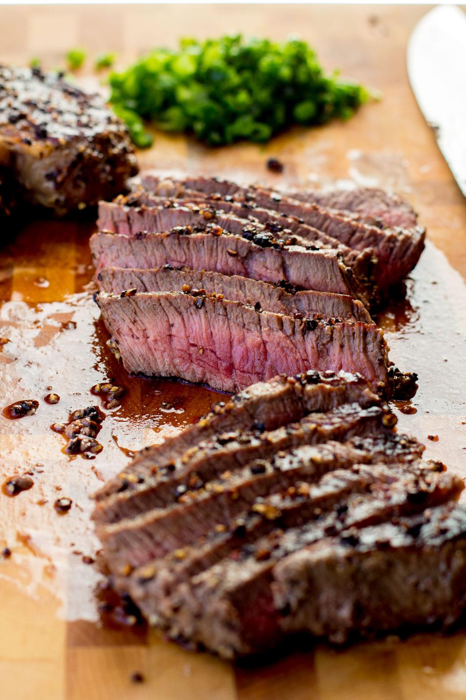 Steak au Poivre - Bake, Braise & Broil