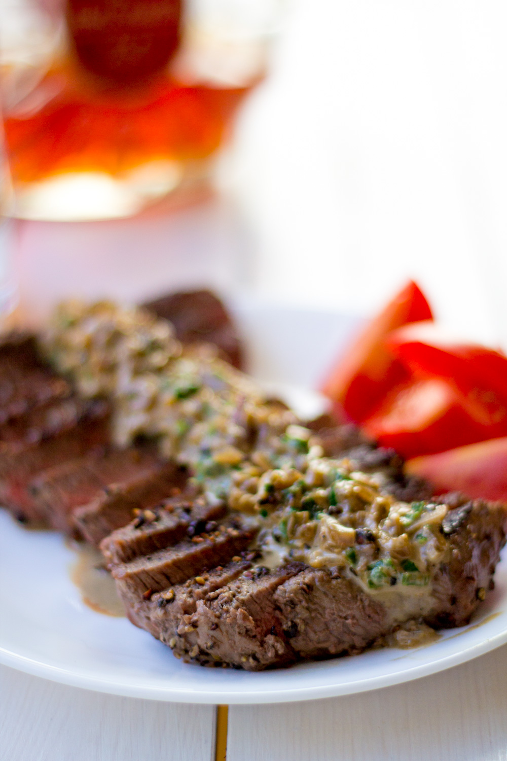 Steak au Poivre - Bake, Braise & Broil