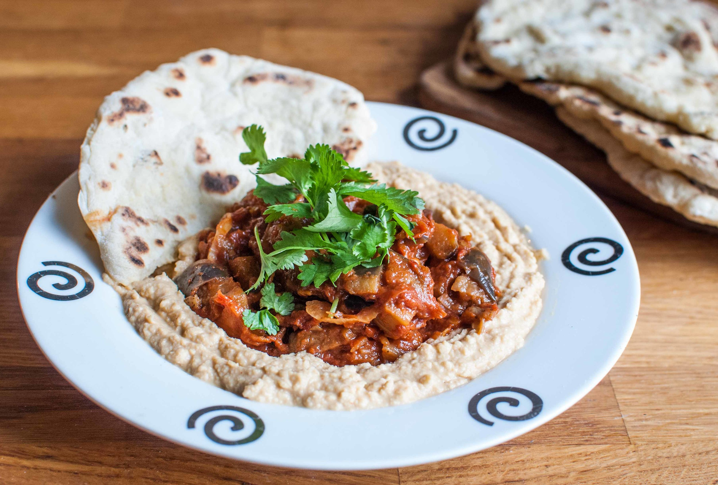 Hummus with Eggplant Stew cover