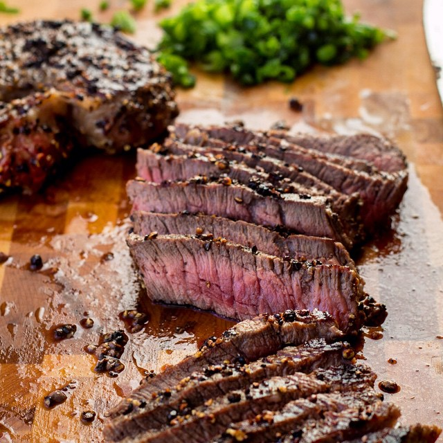 Up on the blog this week, #steak au #poivre ! A French bistro classic, it's my favourite way to eat steak. Link to blog in my bio. #foodporn #tasteab #gastropost #yegfood #abbeef