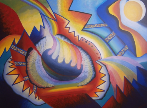 Birth of a Rainbow - acrylic on canvas - 150cm x 110cm - Sold
