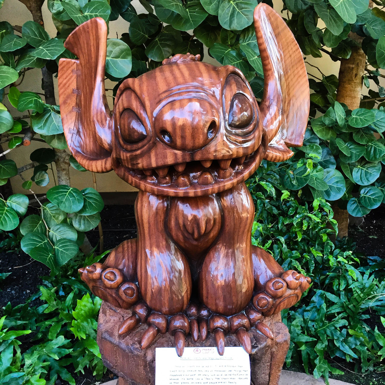 Stitch statue at the Disney Aulani Resort on Oahu