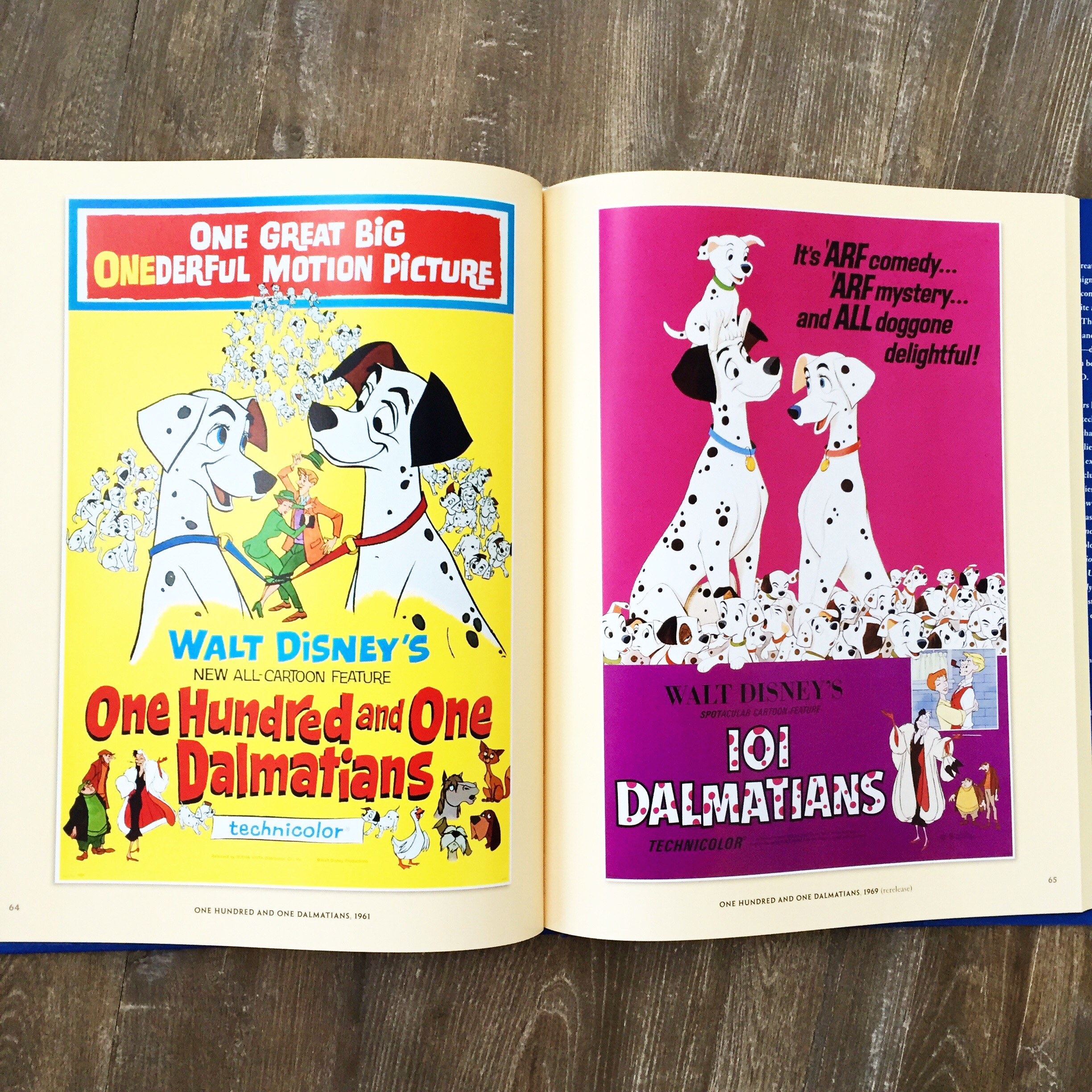 Photo of original posters in the  Disney Movie Poster Book