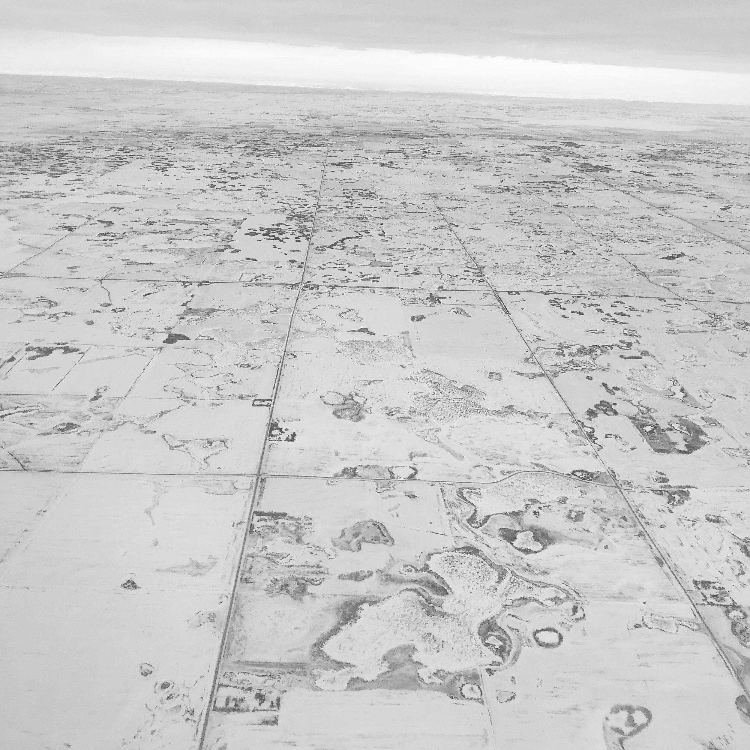 Flying over Saskatoon, SK.