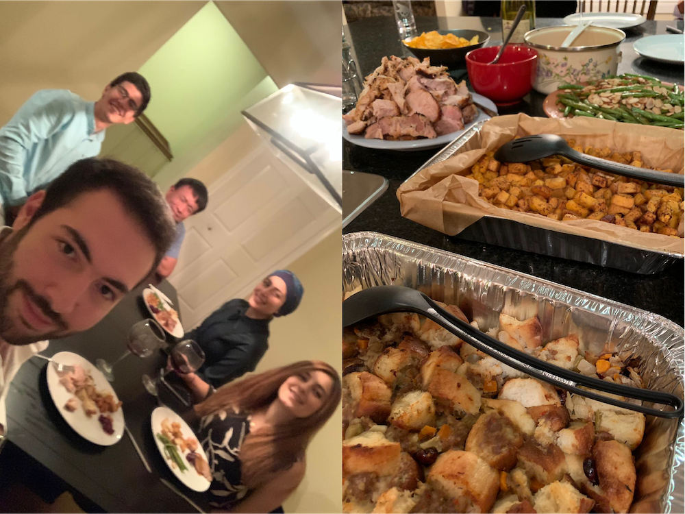 We celebrated the 🇨🇦thanksgiving in fine 🇨🇦tradition – with turkey, stuffing and cranberry sauce! (October 2019)