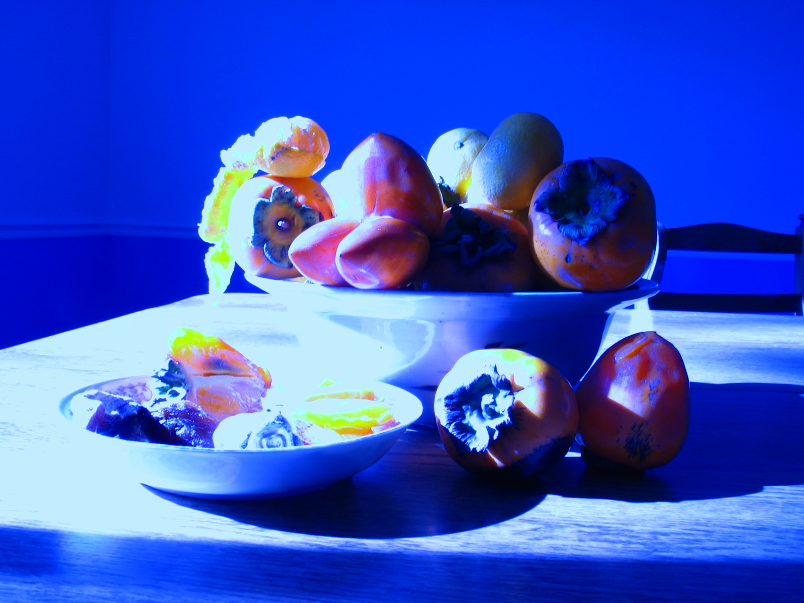 Persimmons and mandarins.