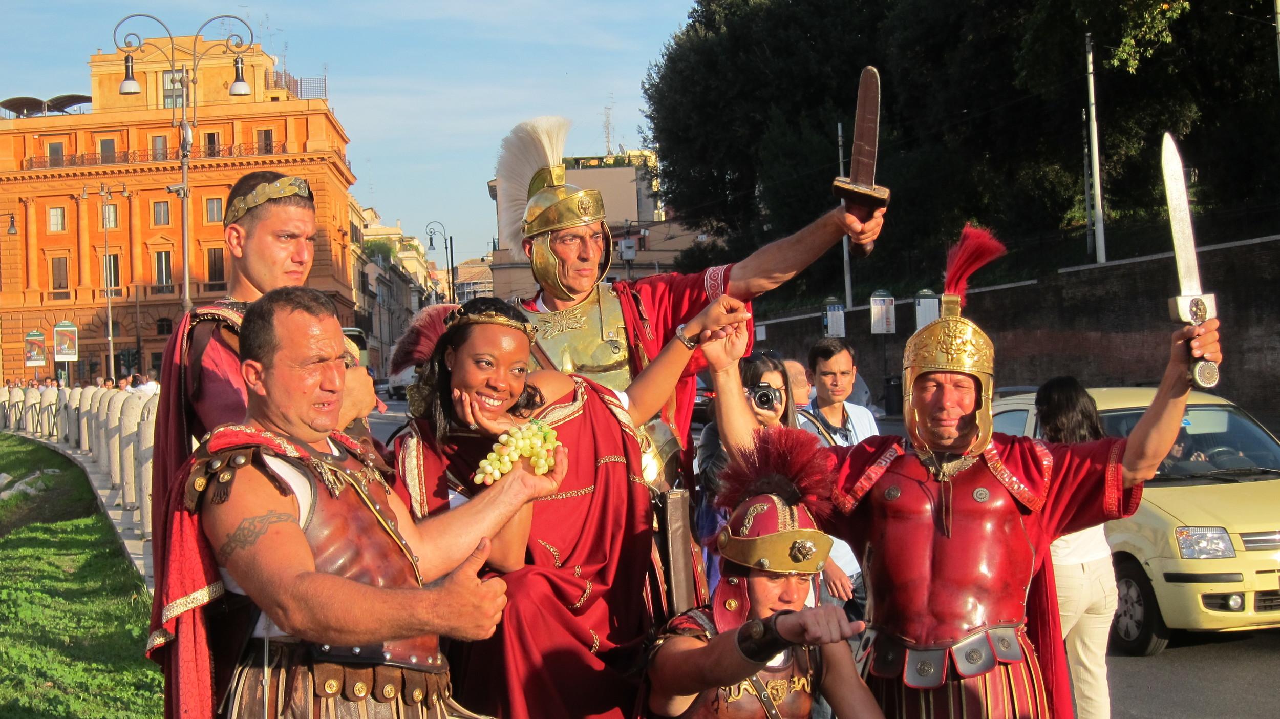2012, 'Gladiators' in Rome.