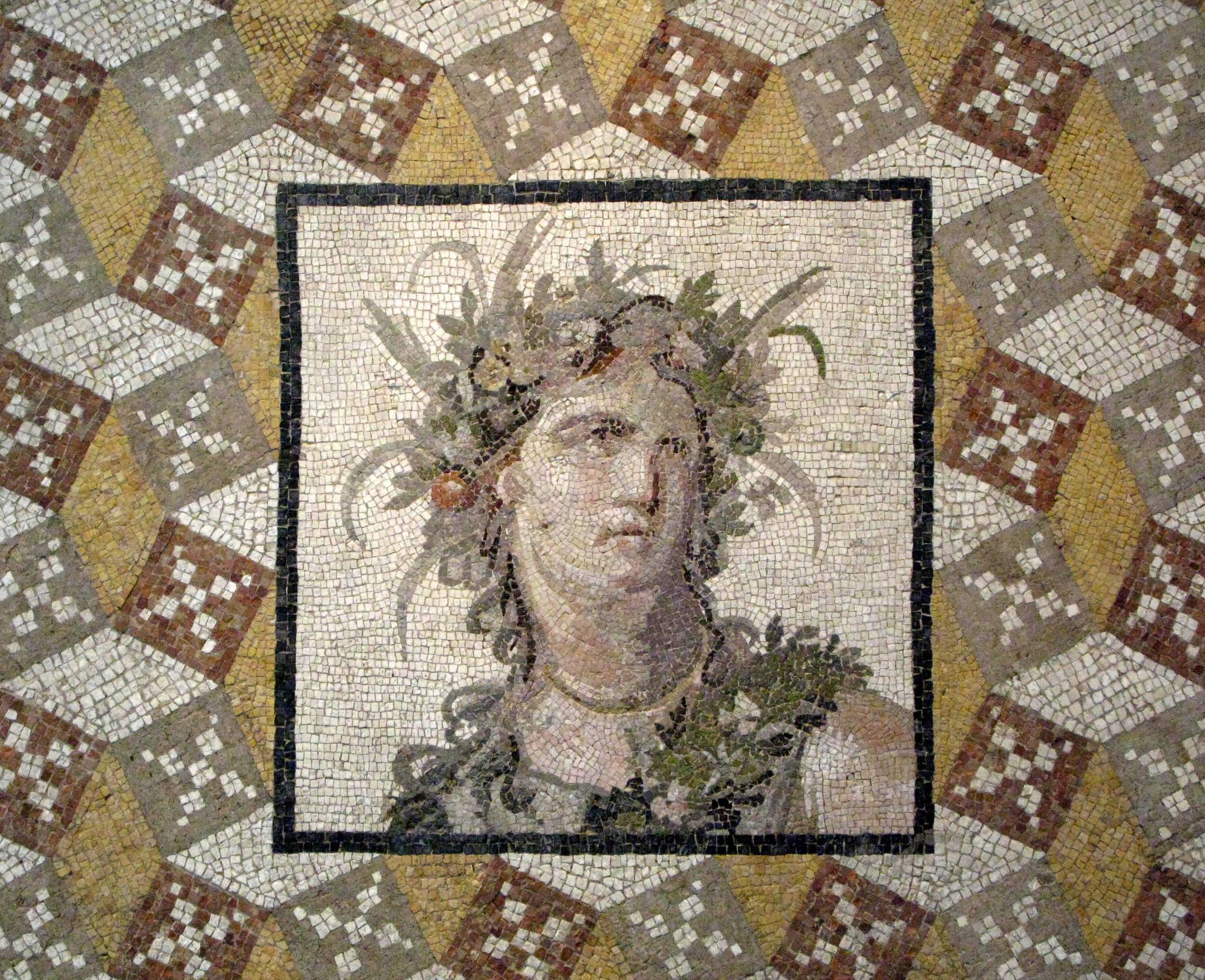 Roman mosaic, from the Metropolitan in NY.