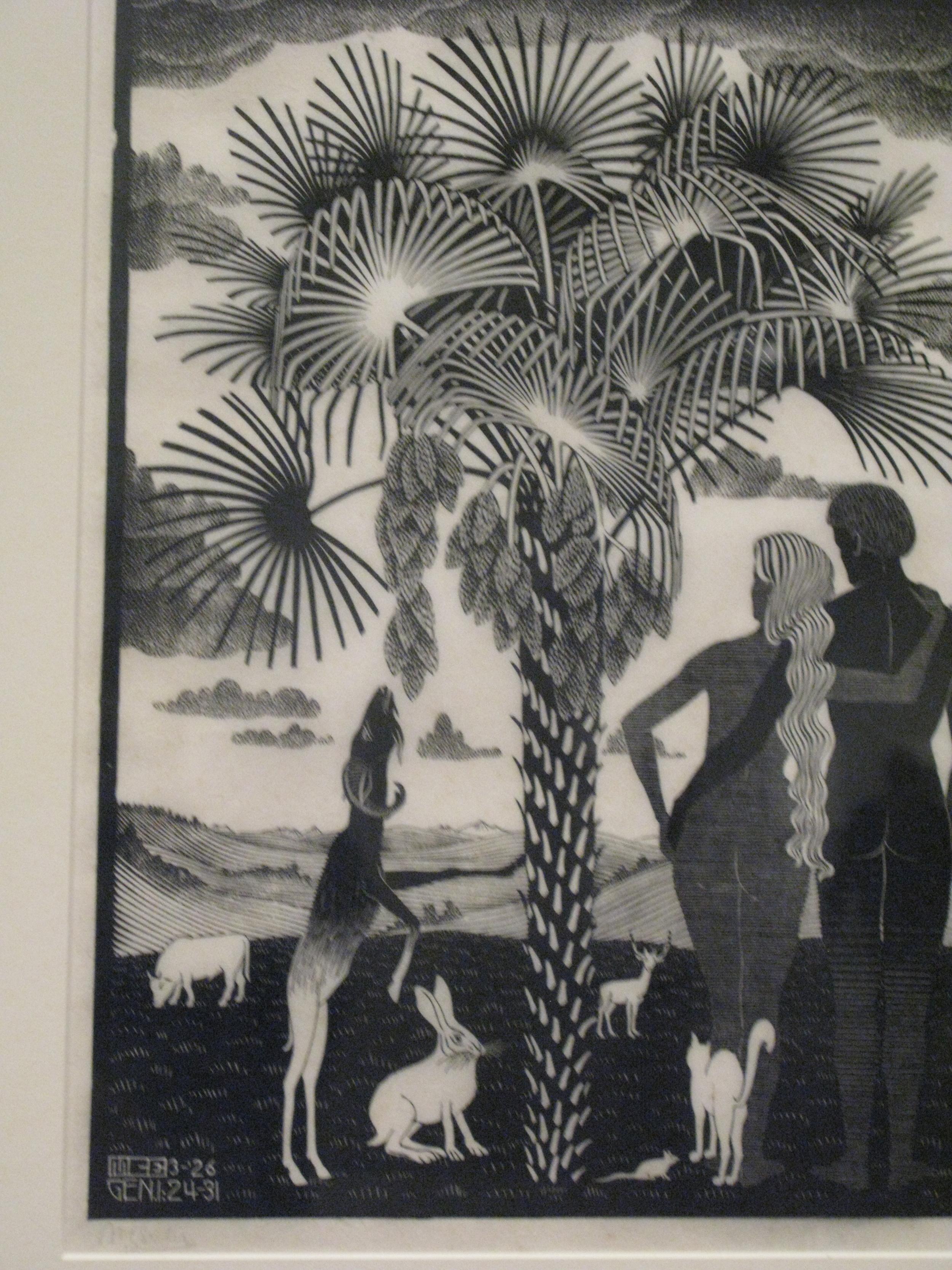 Escher, Adam and Eve in Portland Or.