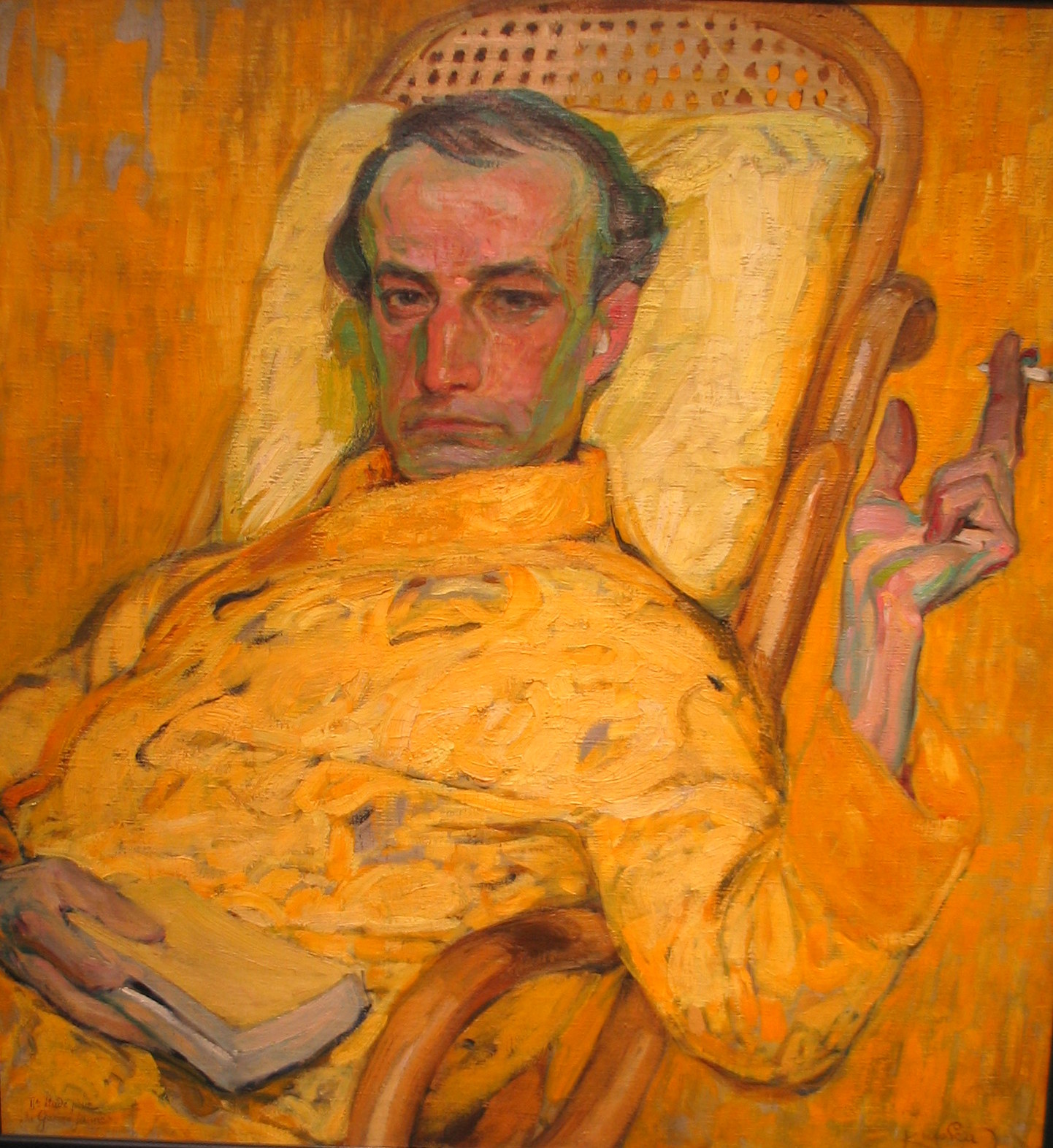Frantisek Kupka, 1871-1957.  The painting is in Houston.