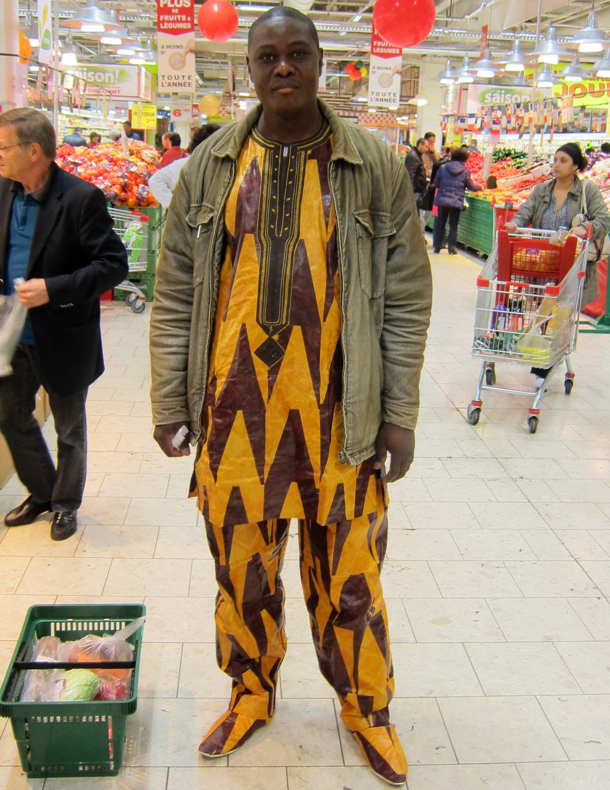 2012 in a Paris supermarket.   I liked his outfit.