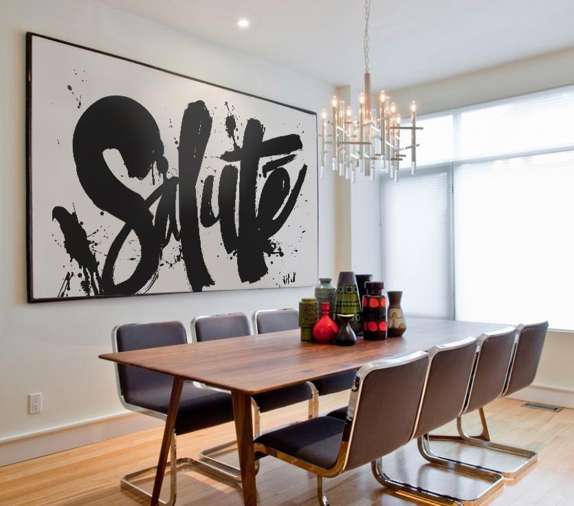 """""""Salute"""", acrylic on canvas."""