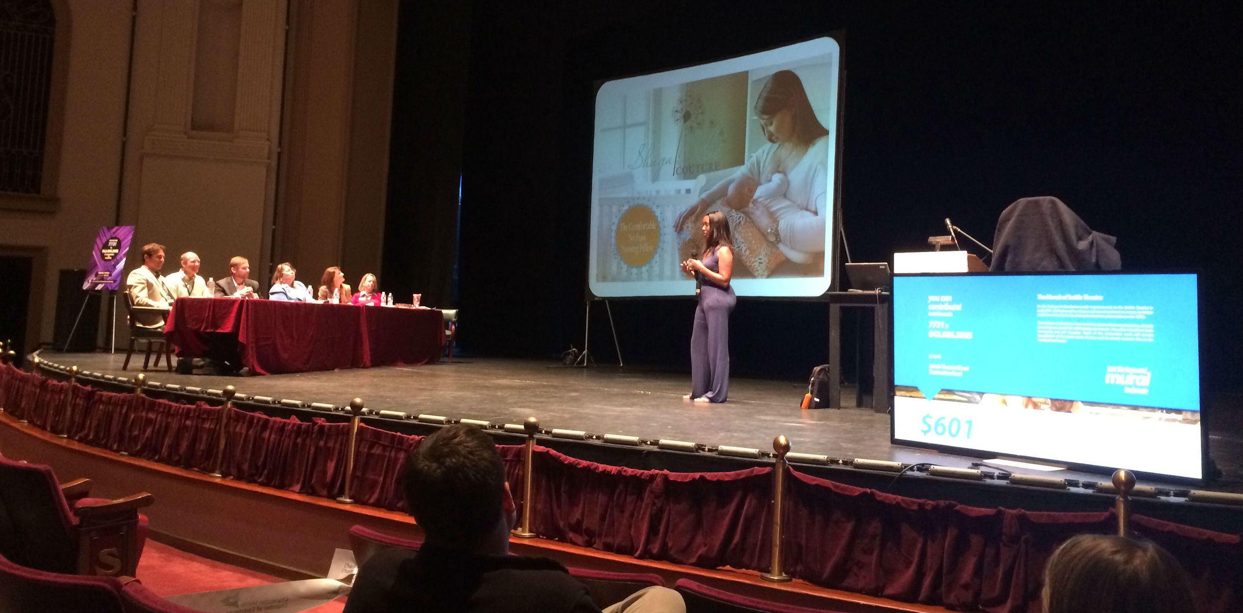 Kim William (Shuga Bebe Couture) at Perfect Pitch competition