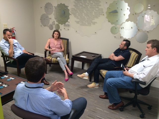 Natalie Halt (Gather Yoga) during mentor breakout sessions