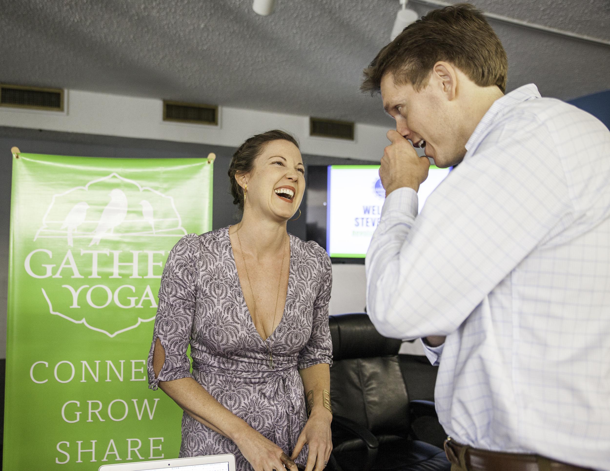 Natalie Halt (Gather Yoga) meets Steve Case and Revolution Ventures at The Harbor Downtown