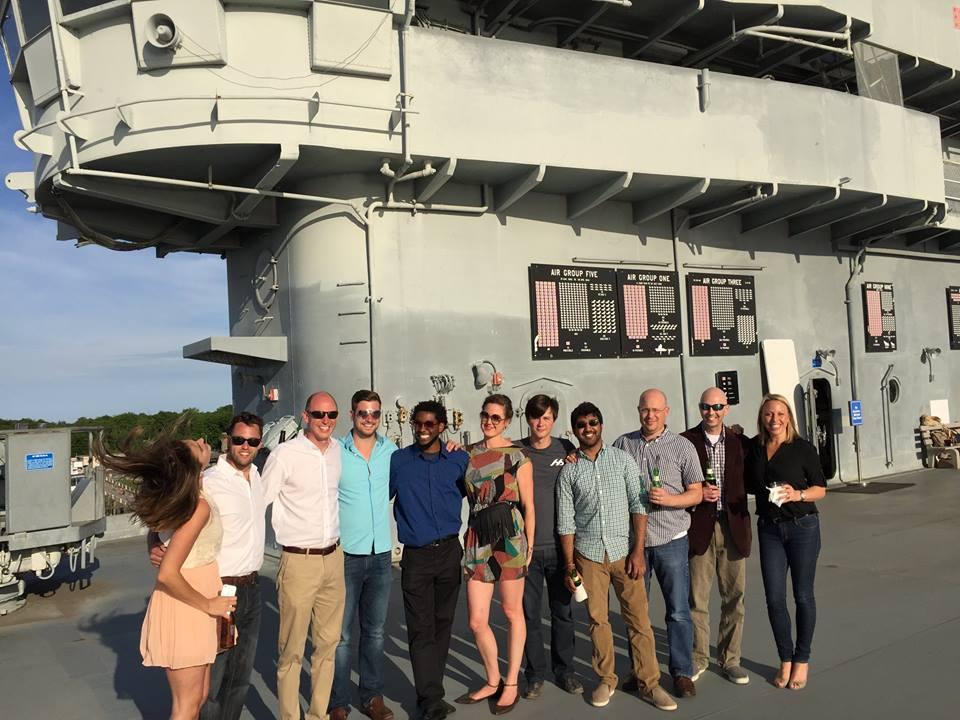 Cohort 3 on the USS Yorktown