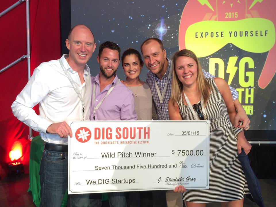 Cohort 2 accelerator company, Bidr, won the DIG SOUTH Wild Pitch in May of 2015