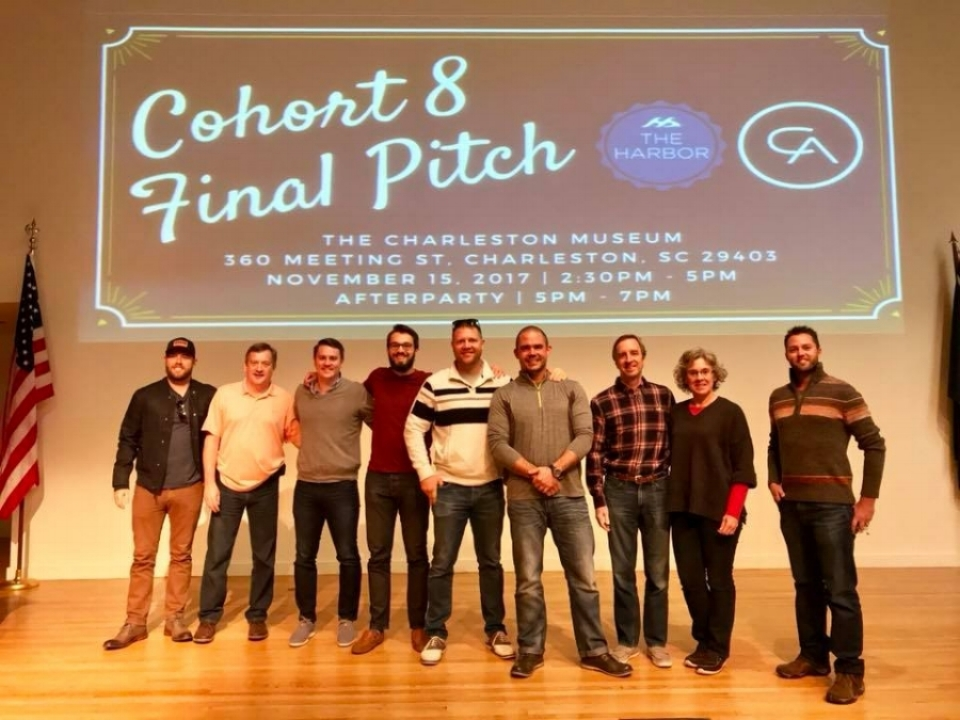 The companies of CoHort practice their final pitches at The Charleston Museum on Nov. 14, 2017.