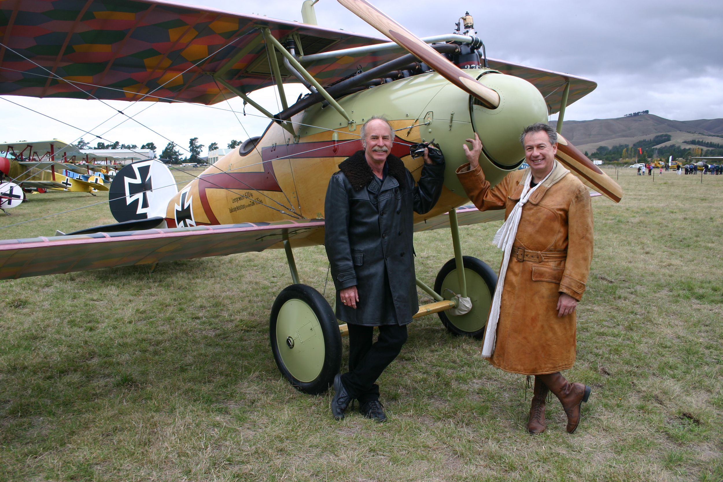 Kermit Weeks and Gene de Marco with a Albatros D.Va.