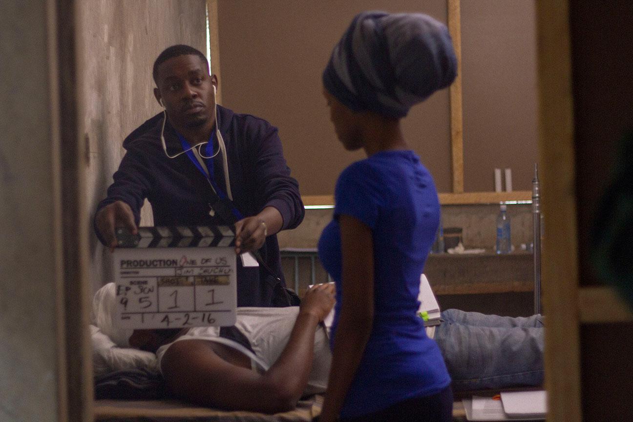 "Jahmby on the set of ""Tuko Macho"""