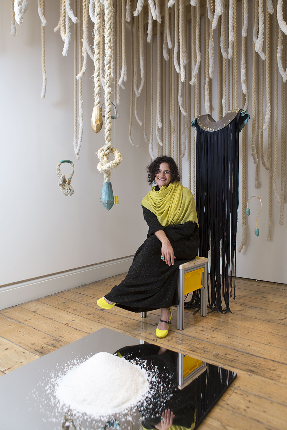 Ami Doshi Shah at the Salt Of The Earth installation at the 2019 International Fashion Showcase, in London, England