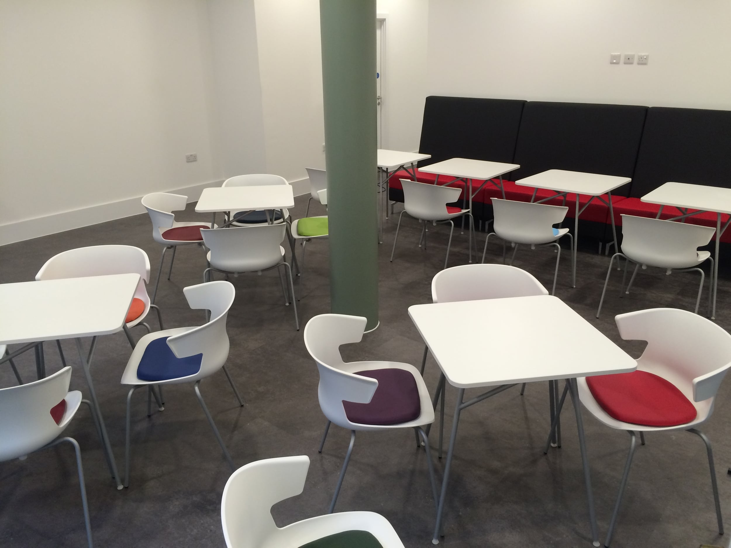 The canteen was going to be a high-traffic area so any furniture we provided had to be able to endure heavy use and have a long life. So we supplied furniture that was not only attractive and comfortable but robust and easy to maintain.