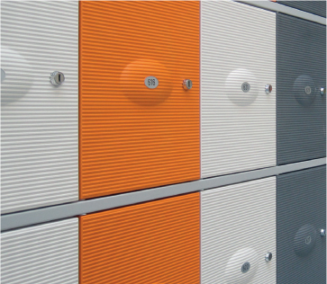 Composite. - Low Maintenance • Soundproof • Vandal Resistant • Insensitive For Stickering • Integrated Number Plates.Strengthened by glass fibre, composite doors are long lasting, impossible to dent and available in many colours.IDEAL FOR: Heavy Use Areas including Loading Bays & Reception Areas.