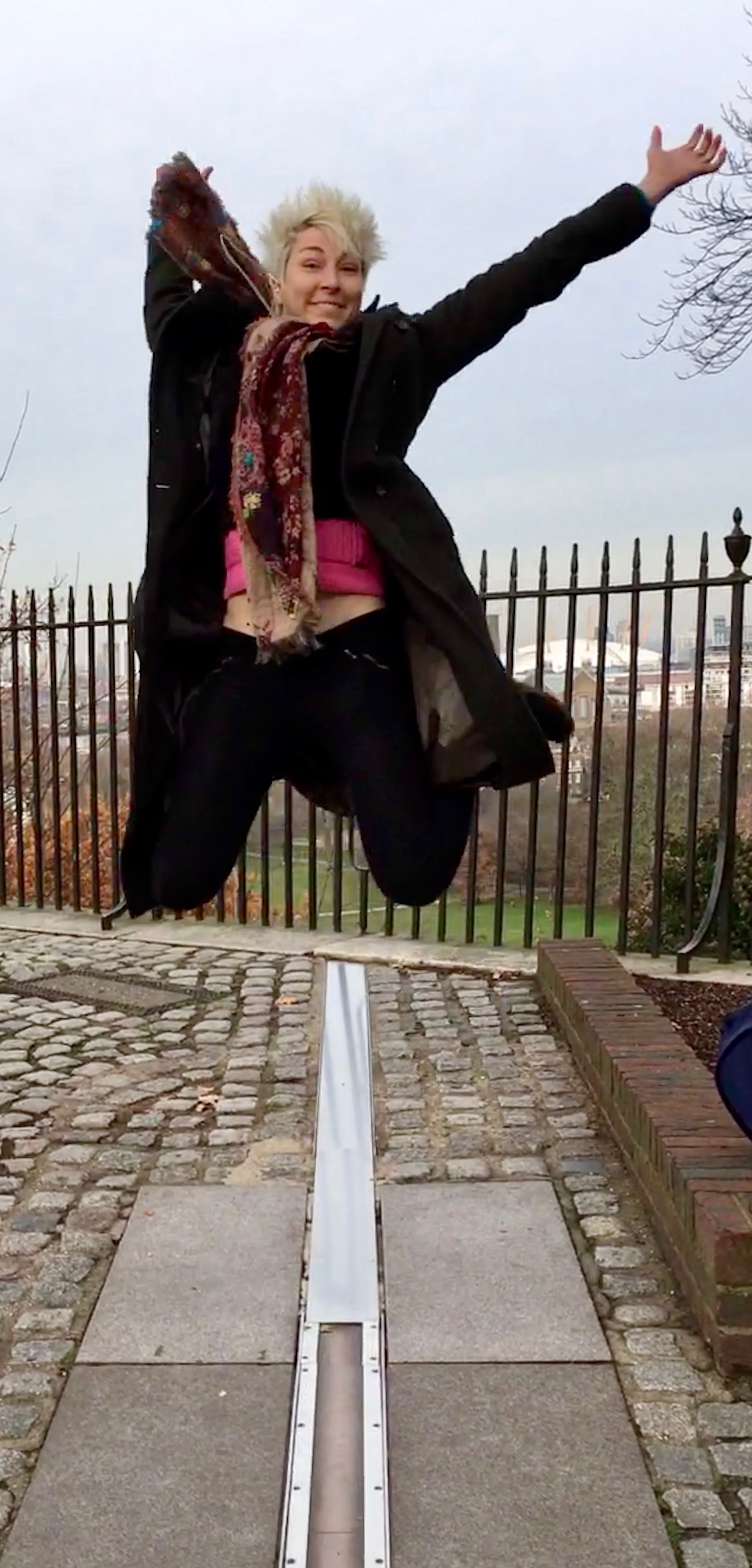 Iszi Jumps over the prime meridian