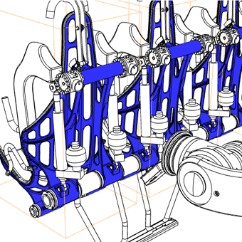 Modular seat system  The BEC seat system consists of catsed seat shells, that allow to get assembled in the combination of 1, 2, 3 and 4 seats. This guarantees consistent highest quality of the components independent from the system configuration.