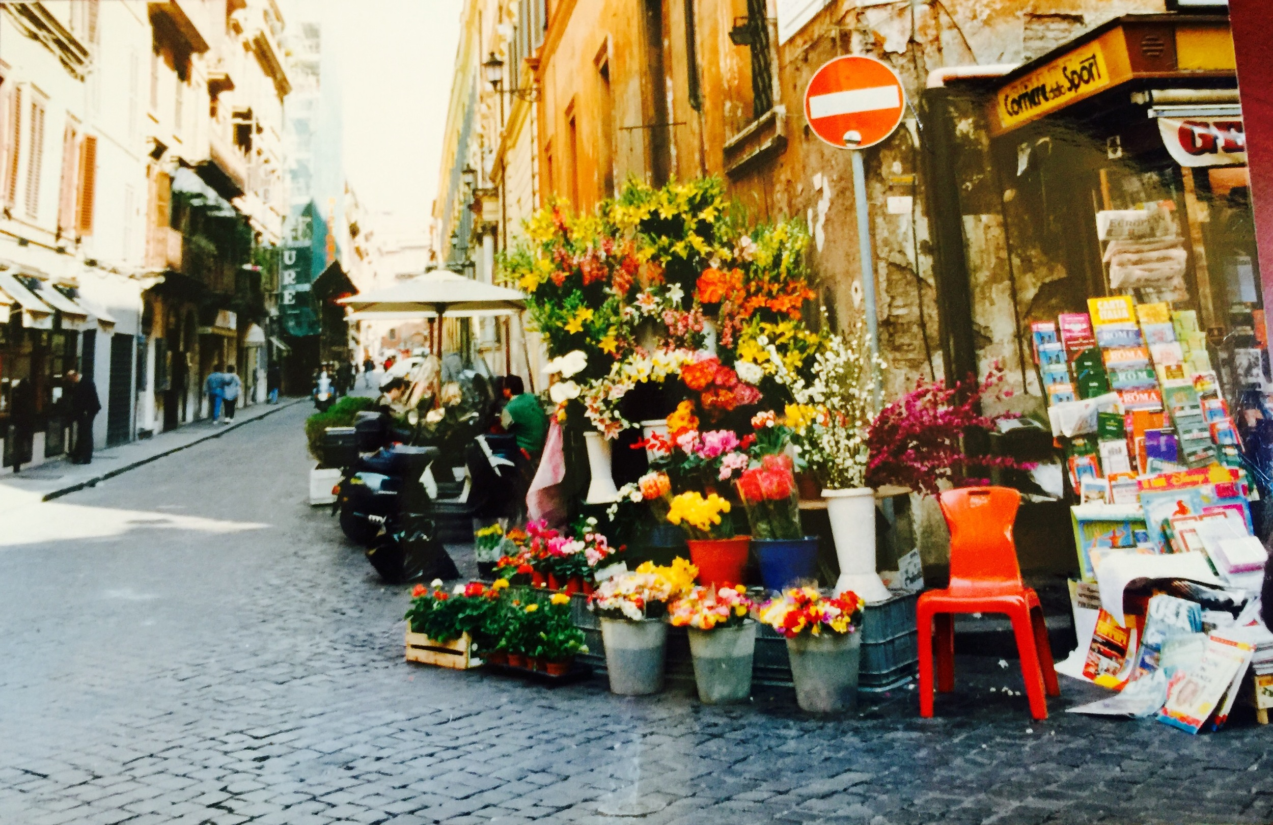 The street where I lived in Italy