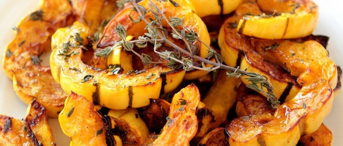 Roasted Delicata Squash with Orange and Thyme