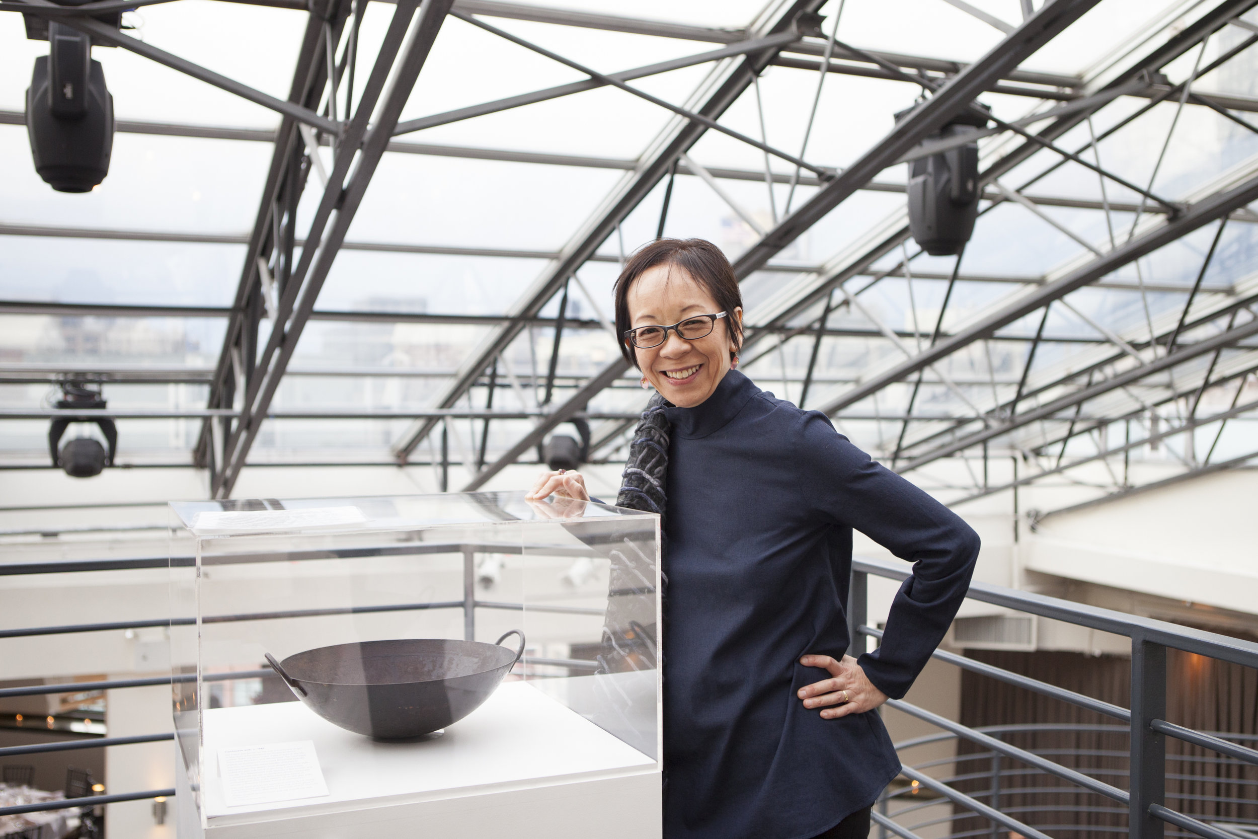 """Grace's ancestral wok is currently on display in the exhibit,  """"Chow"""" at the Museum of Food and Drink (MOFAD)  in Brooklyn, NY."""