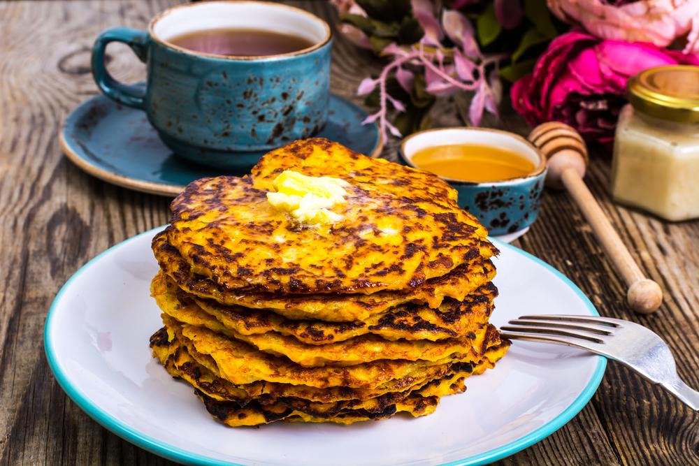 Sweet Potato and Zucchini Pancakes