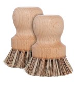 Natural Bristle Pot Brush