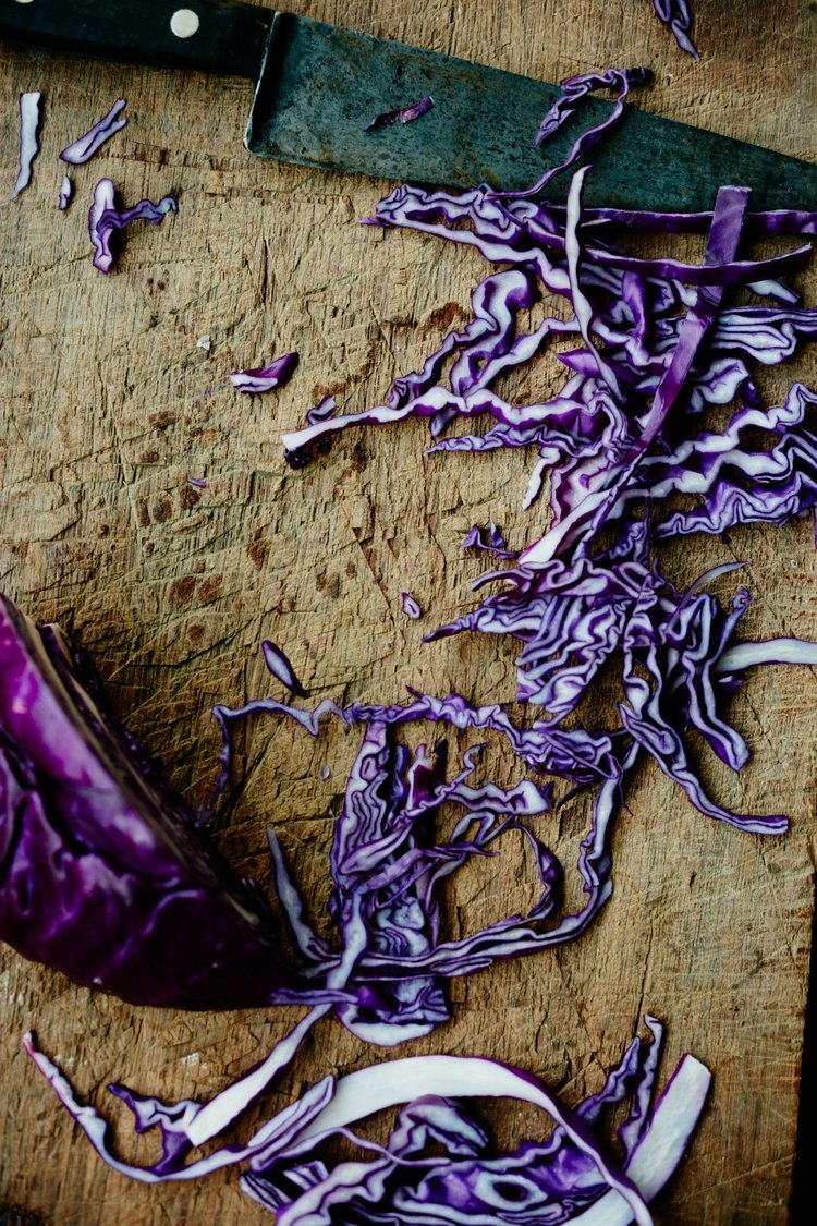 Don't you love using red cabbage, in any event?