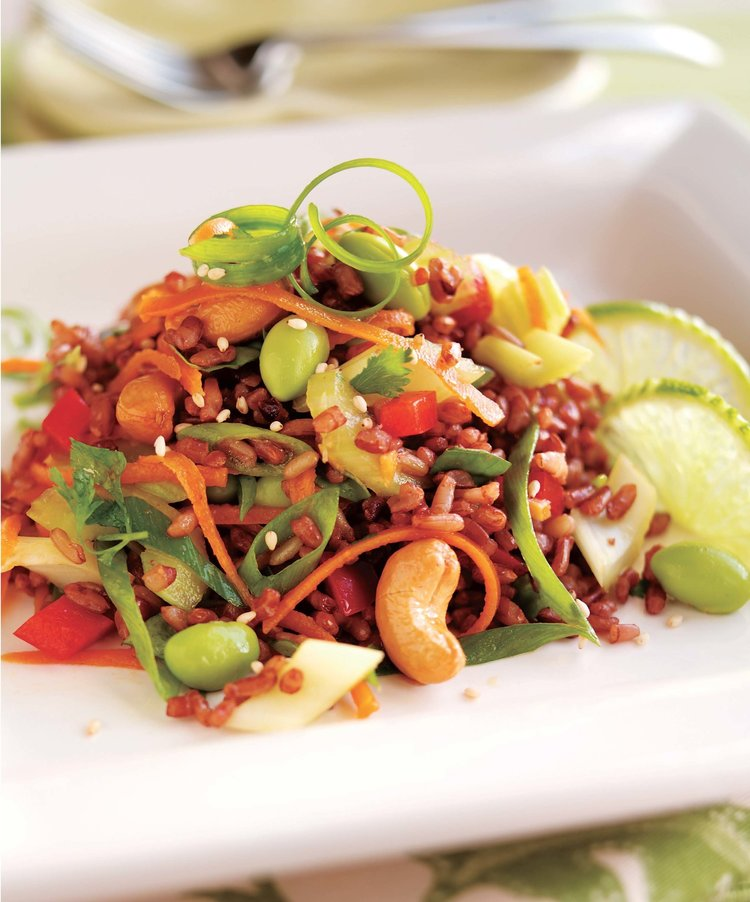 Asian Rice Salad with Edamame - Rebecca Katz