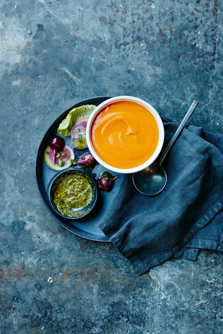 Moroccan Carrot Soup - Rebecca Katz