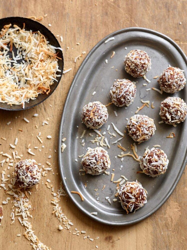 Chocolate Apricot Date Nut Truffles - Rebecca Katz