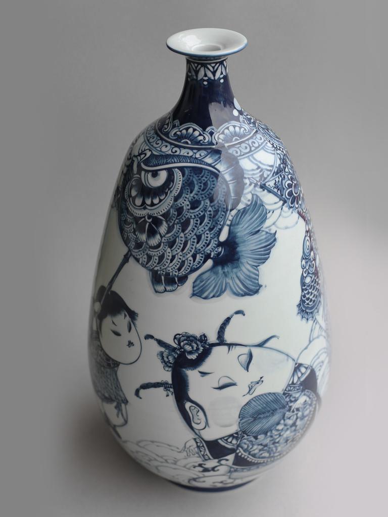 三太子直口葫蘆瓶   尺寸(長x 寬x 高):26.0 x 26.0 x 51.0 cm