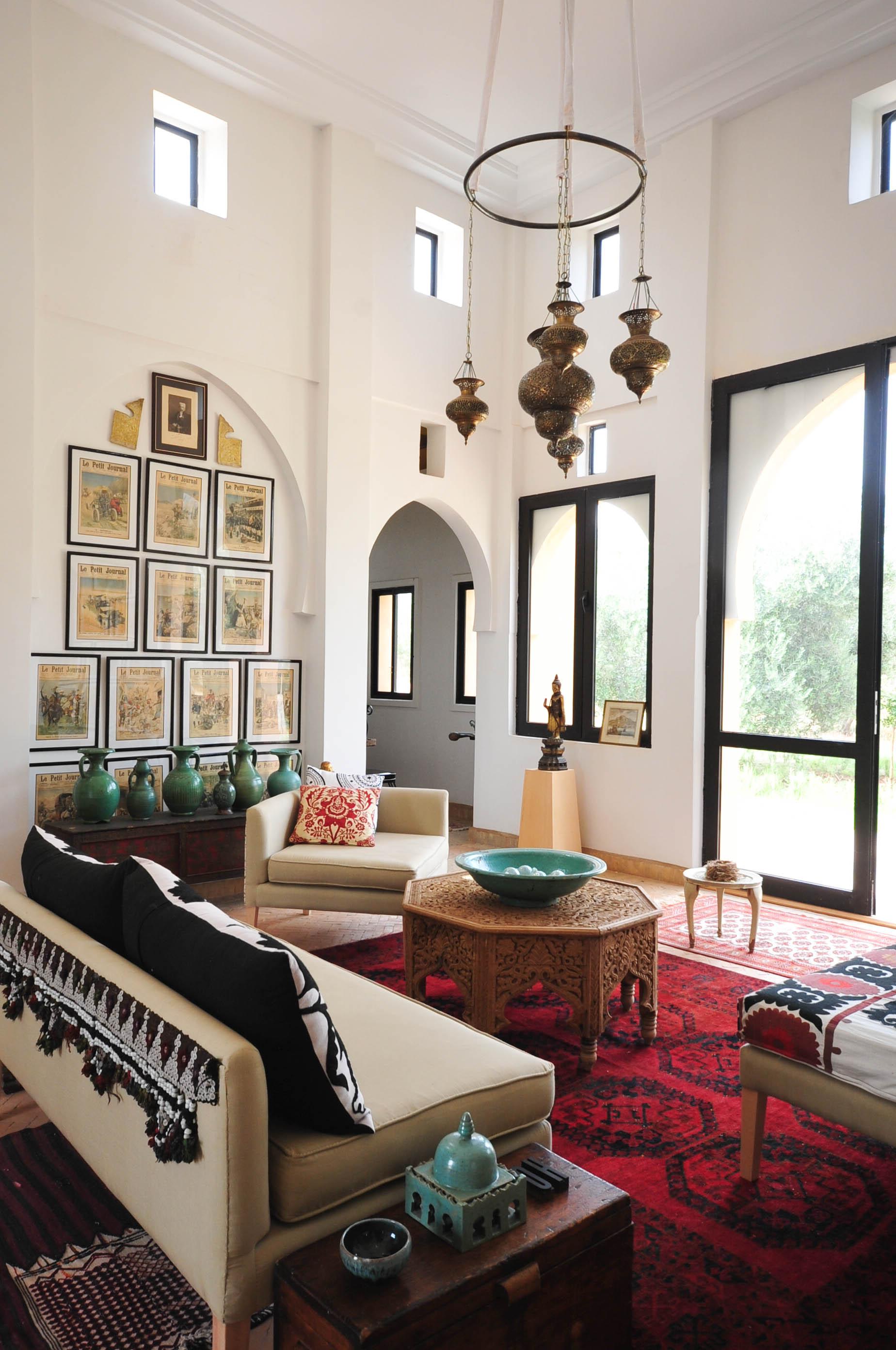 Peacock Pavilions boutique hotel in Marrakech, Morocco – Design by M. Montague - Salon, Medina Pavilion