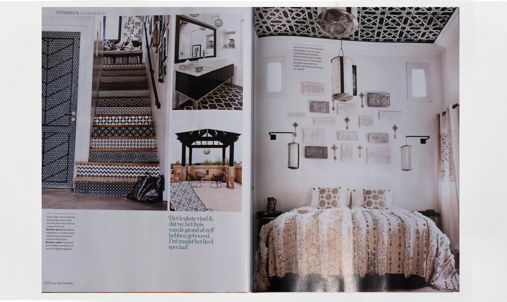 Peacock Pavilions boutique hotel in Marrakech, Morocco – Design by M. Montague - Elle Decor NL