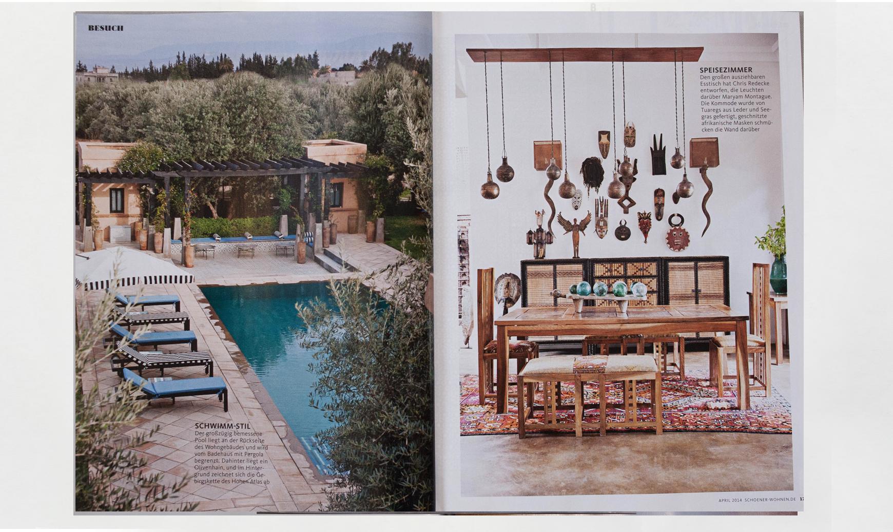 Peacock Pavilions boutique hotel in Marrakech, Morocco – Design by M. Montague - Schöner Wohnen
