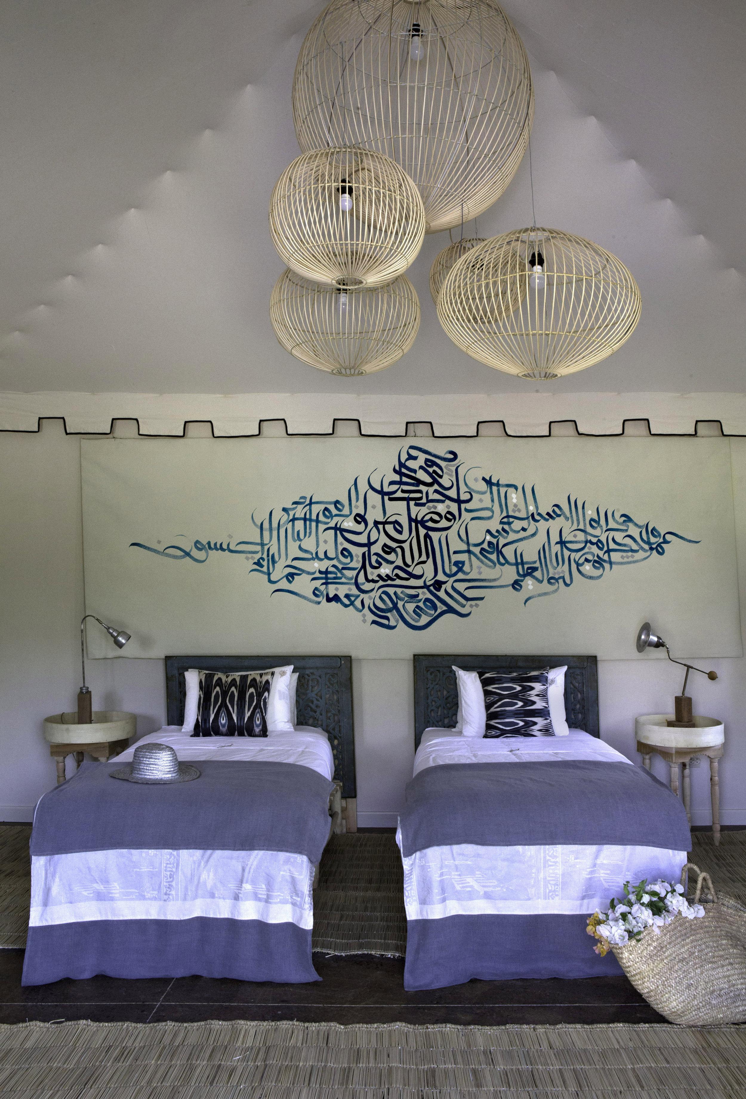 a - blue bed 2 - Peacock Pavilions Dawn Bungalow 4.jpg