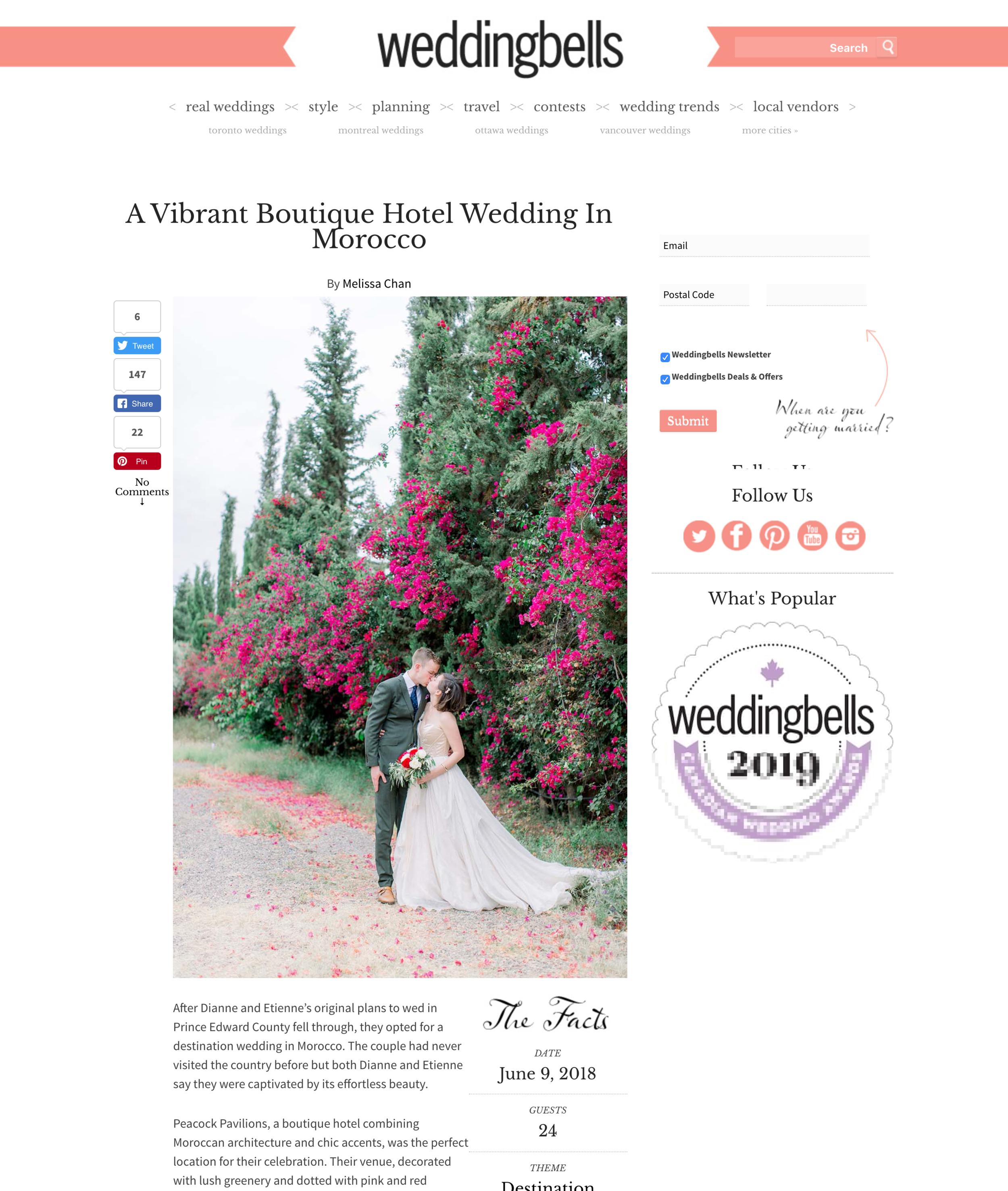 A Vibrant Boutique Hotel Wedding In Morocco   Weddingbells.png